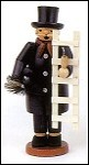 Chimney Sweep With Ladder Smoker (For Good Luck!) -8.5″