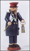 Railroad Conductor With Lantern Smoker – 7.5″