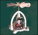 Glaser Painted Nativity Pyramid, White – 10.5″