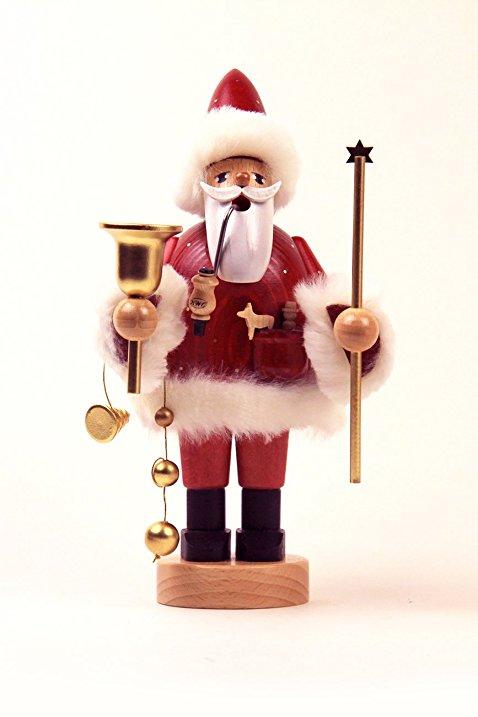 Burgundy Santa With Staff Smoker – 7.1″