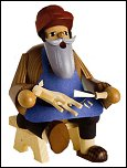 Seated Wood Carver Smoker – 6.3″