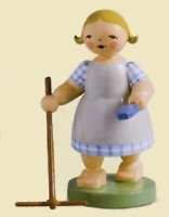 Gardening Girl With Rake – 3.0″