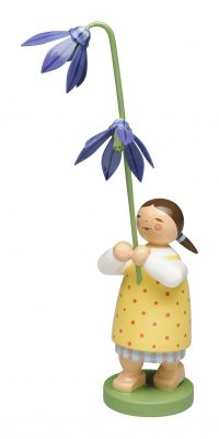 Girl with Scilla – 5.0″ Total Height