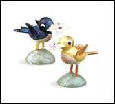 Tiny Bird Carrying Letter – 0.5″
