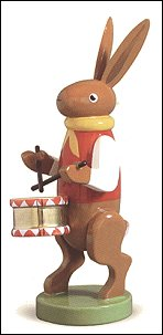 Bunny Musician With Drum – 3.0″