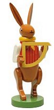 Bunny Musician With Harp – 3.0″