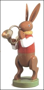 Bunny Muscian With French Horn – 3.0″