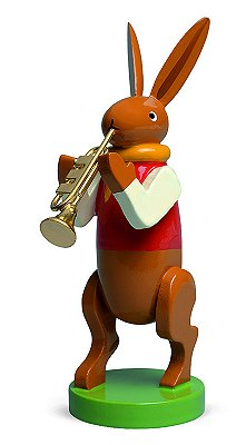 Bunny Musician With Trumpet – 3.0″
