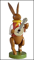 Bunny Musician With Mandolin – 3.0″