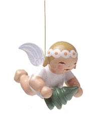 Snowflake Angel With Little Tree—1.0″