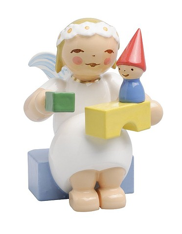 Snowflake Angel, Sitting, With Building Blocks – 1.5