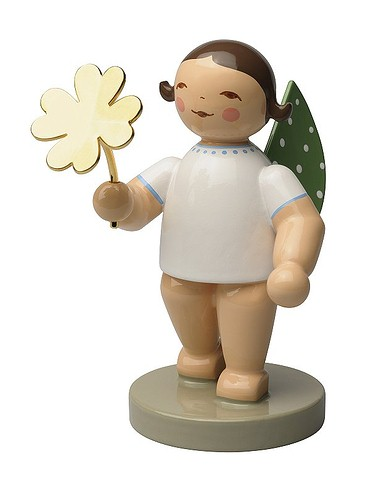 Angel With Four-Leaf Clover – 2.5″