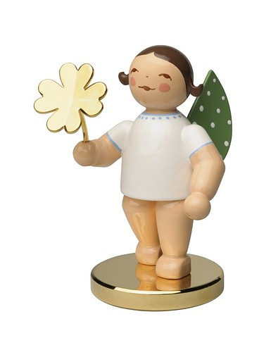 Limited Edition Angel W/4 Leaf Clover Gold Plated Box -2.5″