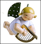 Angel With Little Harp Suspended –