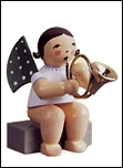 Angel With French Horn Sitting – 2