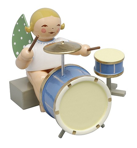 Angel With Two-Piece Percussion, Sitting – 2.0