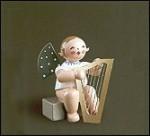 Angel With Mandolin Sitting – 2.0″