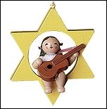 Christmas Tree Angel With Guitar I