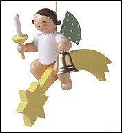 Angel With Bell And Candle On Comet – 3.5″