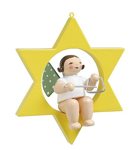 Angel With Triangle In Star – 1.75″