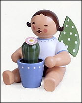 Angel With Flowering Cactus – 2.0″