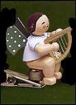 Angel With Little Harp On Clip – 3