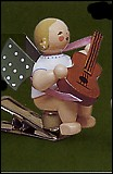 Angel With Guitar On Clip – 3.0″