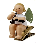 Angel With Clarinet On Clip – 3.0″