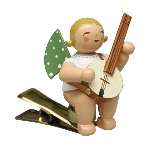 Angel With Banjo, On Clip – 2.25″