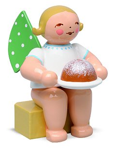 Angel Small With Cake – 1.5″
