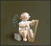 Angel With Large Harp Sitting – 2.