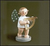 Angel With Small Harp – 2.5″