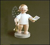 Angel With Songbook and Small Trumpet – 2.5″