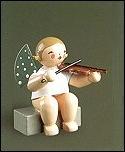 Angel With Violin Sitting – 2.0″