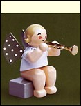 Angel With Trumpet Sitting – 2.0″