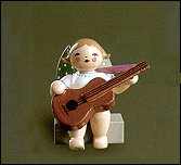 Angel With Guitar Sitting – 2.0″