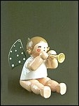 Angel With Small Trumpet Sitting –