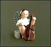 Angel With Cello Sitting – 2.0″