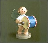 Angel With Small Base Drum – 2.5″