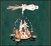 Glaser Natural Nativity Pyramid,  Green – 10.5″