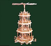 Glaser Four-Tier Natural Nativity Pyramid – 21.5″