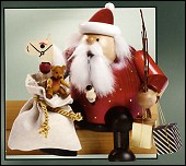 Burgundy Father Christmas Sitting Smoker – 6.3″