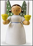 Angel Holding Candles White – 2.25