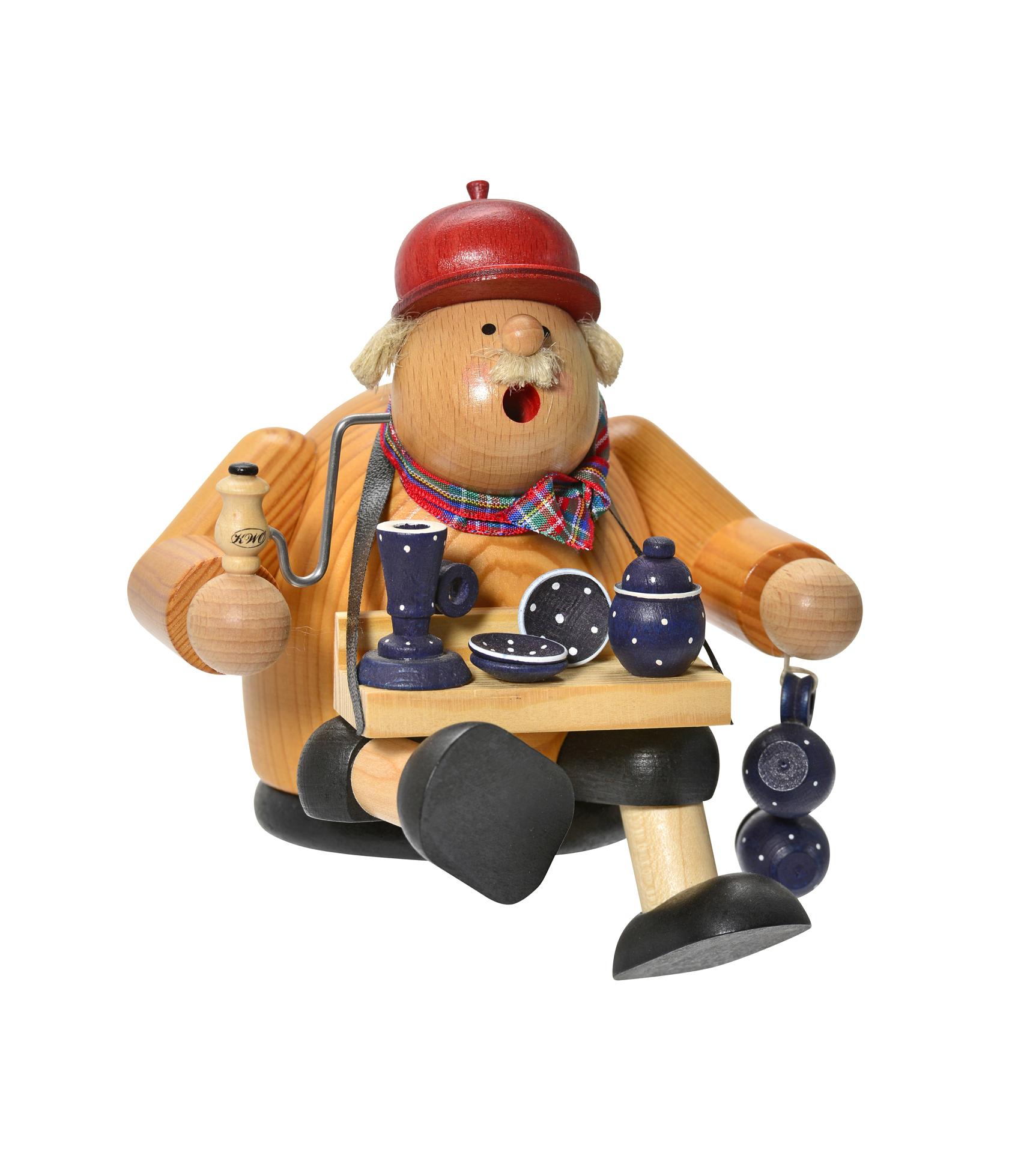 Pot Trader Smoker, w/Polish Pottery, Sitting – 5.5″