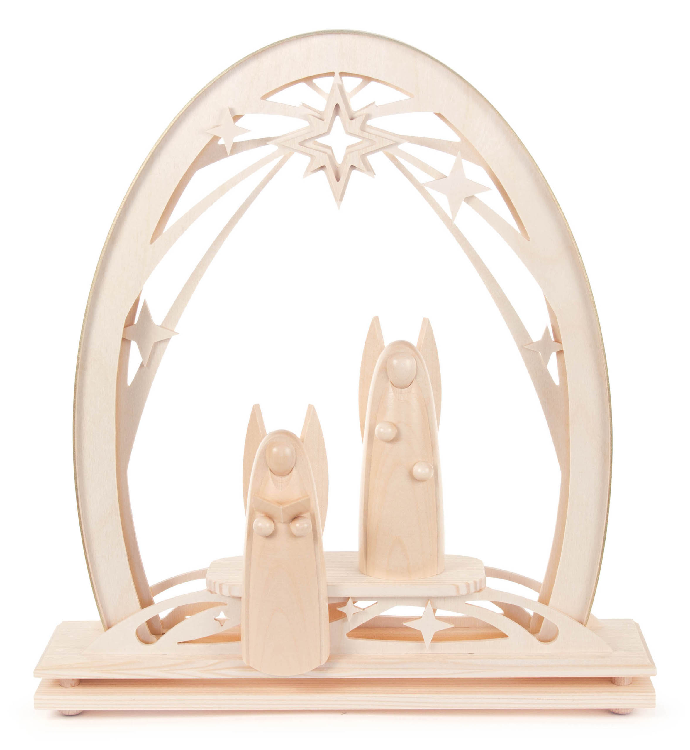 Fretwork Arch w/Angels, Indirect Lighting- 12″ x 13″