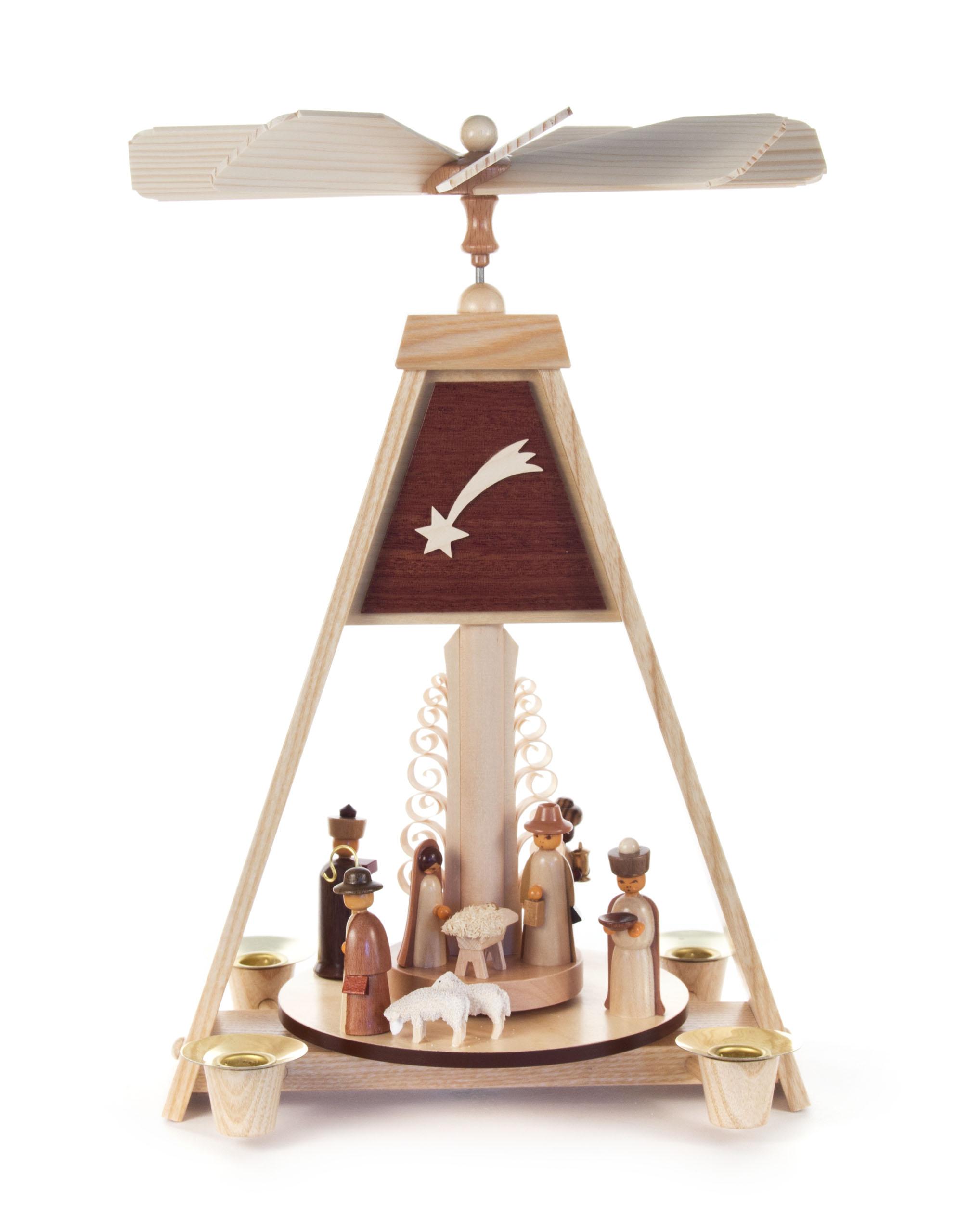 """Dregeno A-Frame House Nativity Around Tree – 12 """""""