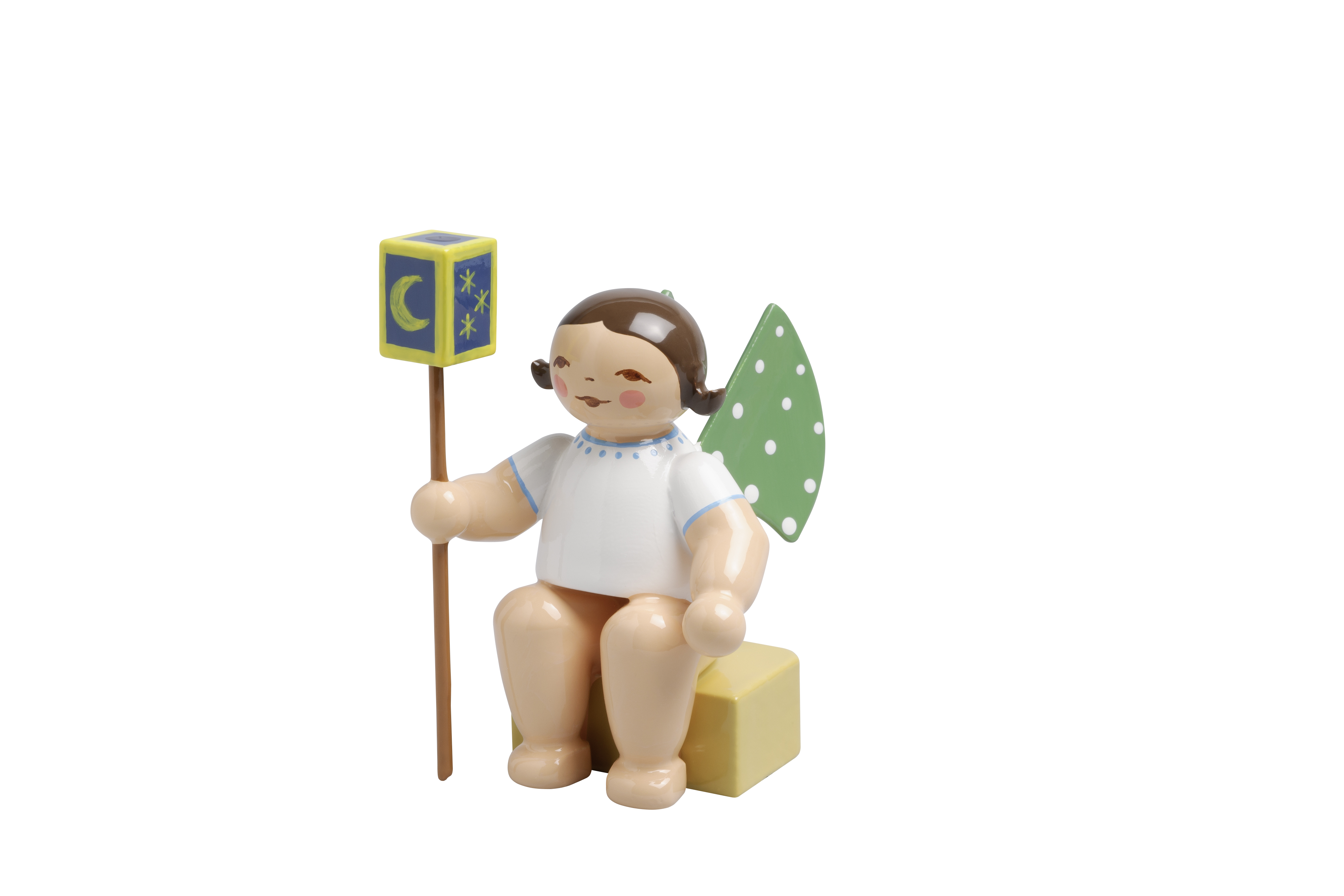 Angel, Small, with Lantern on Stick – 1.5″