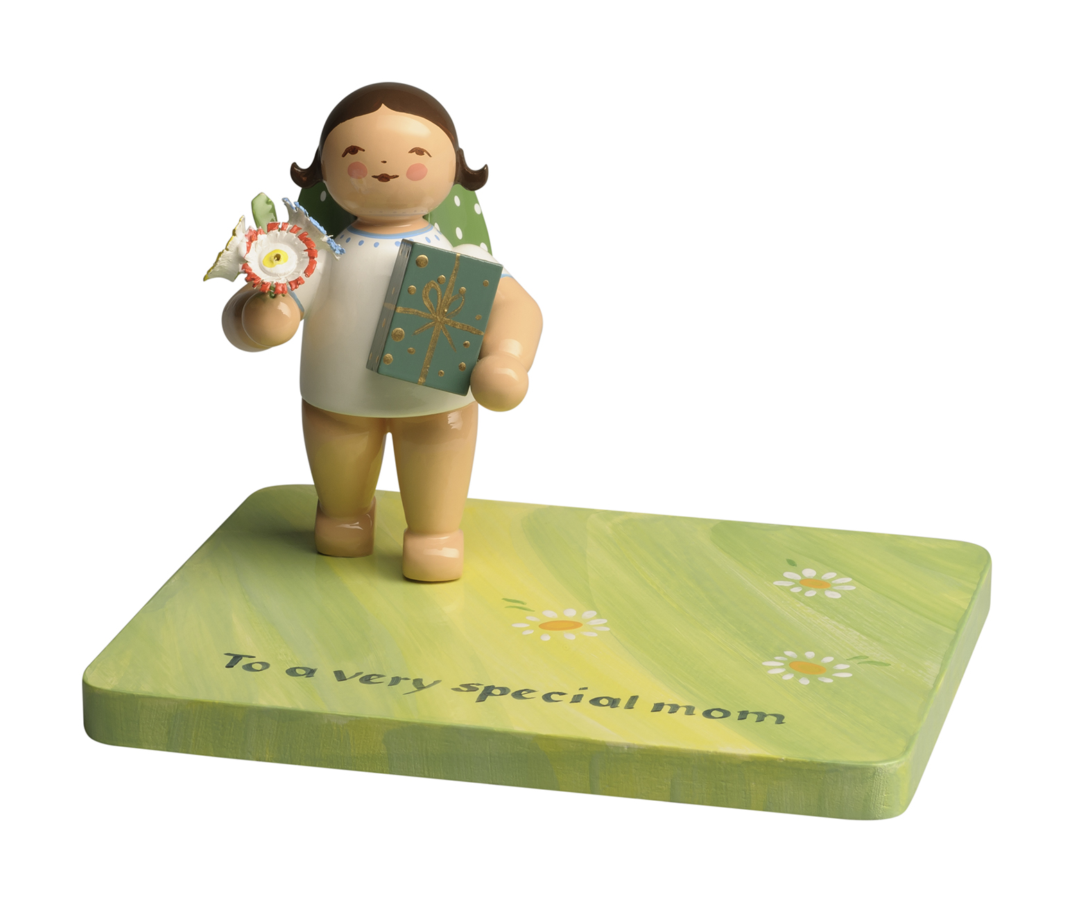 Angel with Gifts for Mother's Day, on Customized Base – 2.0″
