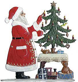 Santa w/Tree – 3 1/2 x 3 3/4″