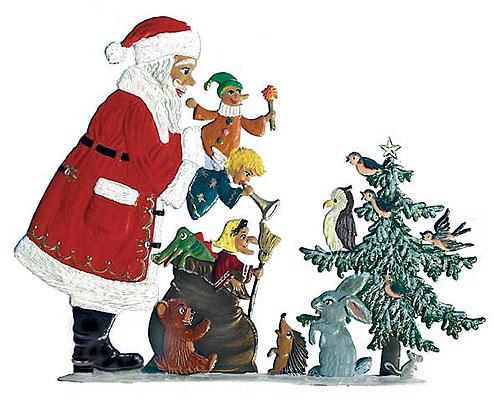 Playful Santa – 4 1/2 x 3 1/2″